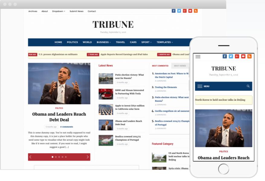 Tribune WordPress Theme 4.2.5