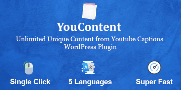 Unlimited Unique Content Generator from Youtube Captions